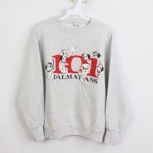 90s Mens Small 101 Dalmatians Crewneck Sweatshirt